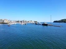 Mayflowerjachthaven De rivier van Plymouth Tamar devon royalty-vrije stock afbeeldingen