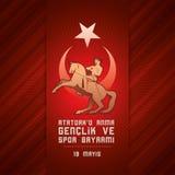 19 mayis Ataturk-` u Anma Genclik VE Spor Bayrami lizenzfreie abbildung