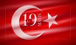 19 mayis Ataturk`u Anma Genclik ve Spor Bayrami vector illustration