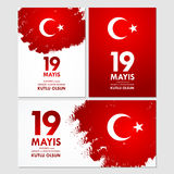 19 mayis Ataturk`u anma, genclik ve spor bayrami. Translation: 19th may commemoration of Ataturk, youth and sports day. 19 mayis Ataturk`u anma, genclik ve spor Stock Photography