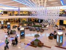 Maynard Jackson internationell terminal på den Atlanta flygplatsen, USA Arkivfoton