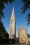 Maynooth uniwersytet Kaplica i zegar okręg administracyjny Kildare Irlandia fotografia stock