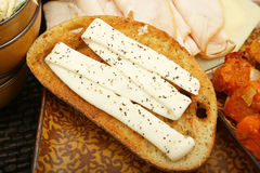 Mayo on Bread Royalty Free Stock Image