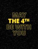 Mayo el 4to sea con usted - ejemplo del vector de los saludos del día de fiesta ilustración del vector