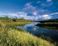 Mayo-Fluss in Yukon Stockfotos