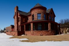 Mayo House. This is a Winter picture of the Mayo House in Dekalb, Illinois.  This house was built in 1897.  This picture was taken on March 7, 2015 Stock Photo
