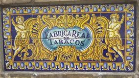 Mayol: Royal Tobacco Factory. Mayol in Sevilla, Spain Royalty Free Stock Photo