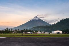 Mayon Vocalno Legazpi, Φιλιππίνες Στοκ Εικόνες