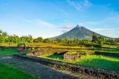Mayon Vocalno in Legazpi, Philippines Royalty Free Stock Photos