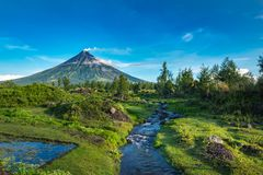 Mayon Vocalno w Legazpi, Filipiny Zdjęcia Royalty Free