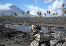 Mayon volcanique Philippines de support de terrain image stock