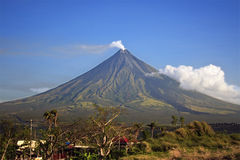 Mayon Volcano. In Legaspi, Southern Luzon, Philippines Stock Image