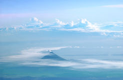 Mayon Volcano on Air Stock Photos