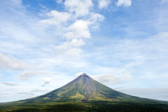 Mayon Volcano on the island of Luzon in the Philippines. Stock Image