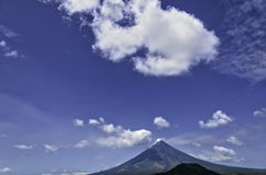 Mayon Volcano. The perfect cone of Mayon Volcano, South of Luzon, Philippines royalty free stock photography