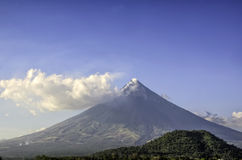 Mayon Volcano. The perfect cone of Mayon Volcano, South of Luzon, Philippines royalty free stock images