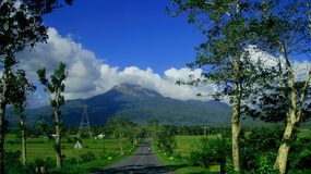 Mayon Volcano  in  Philippines. Mayon Volcano on the island of Luzon in the Philippines.Travel in Asia Royalty Free Stock Photos