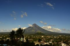 Mayon Volcano  in  Philippines. Mayon Volcano on the island of Luzon in the Philippines.Travel in Asia Stock Photo