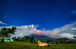 Mayon Vulkan stockfotografie