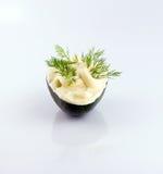 Mayonaise over avokado Royalty-vrije Stock Afbeeldingen