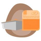 Mayonesa en envase de plástico Imagen de archivo libre de regalías