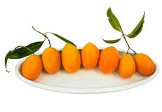 Mayongchid  isolate whitebackground with clipping path. Mayongchid Maprang Marian Plum and Plum Mango thailand isolate whitebackground with clipping path Stock Images