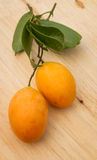 Mayongchid Maprang Marian Plum e Plum Mango Tailândia Imagem de Stock