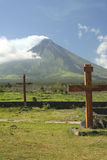 mayonmonteringsphilippines vulkan royaltyfri foto