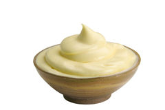 Mayonnaise on bowl Stock Images