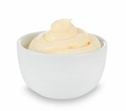 Mayonnaise in bowl Stock Photos