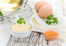 Mayonnaise in bowl Stock Photos