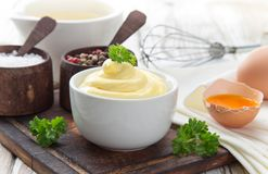 Mayonnaise in bowl Stock Photography