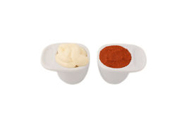 Mayonnaise and Cayenne pepper Stock Photography