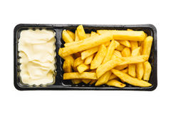 mayonnaise de pommes frites Photo libre de droits