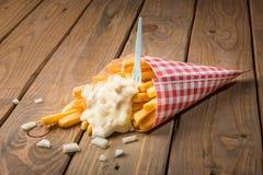 Mayonnaise de whith de pommes frites Photo libre de droits