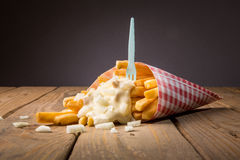 Mayonnaise de whith de pommes frites Image stock