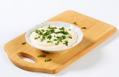 Mayonnaise dressing with parsley Stock Images