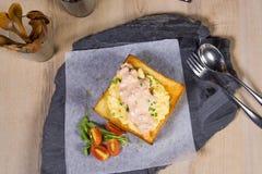 Mayonnaise honey toast Stock Images