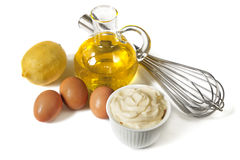 Mayonnaise Ingredients Stock Photo