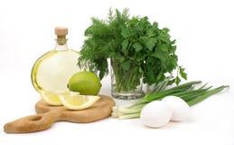 Mayonnaise ingredients royalty free stock photo