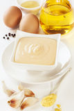 Mayonnaise and Ingredients Stock Photo
