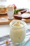 Mayonnaise jar Royalty Free Stock Image