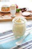 Mayonnaise jar Stock Images