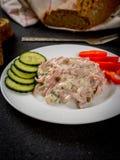Mayonnaise mixed salad Stock Photos