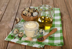 Mayonnaise from quail eggs Stock Image