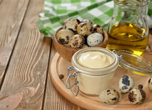 Mayonnaise from quail eggs Royalty Free Stock Images