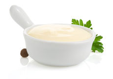 Mayonnaise sauce and food ingredient Stock Photo
