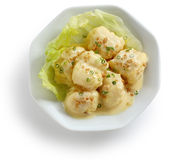 Mayonnaise shrimp Stock Images