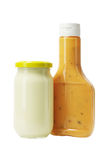 Mayonnaise and Thousand Island Dressing Royalty Free Stock Photo