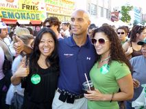 Mayor Adrian Fenty and Admirers Stock Photography